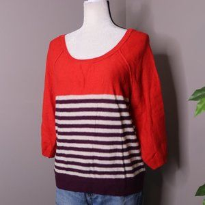 American Eagle Striped Wool Thin Knit Sweater